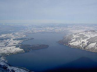 Lake Zug - Image: Aussicht Winter Rigi Zugersee