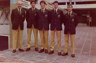 Dennis Talbot - Dennis Talbot (far right) with the Australian Olympic Boxing Team, Munich, 1972