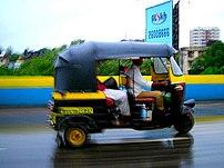 An Auto-rickshaw in Mumbai.