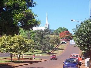 Oberá - Sarmiento Avenue.