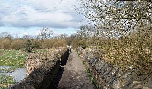 Aylestone Packhorse Bridge pathway