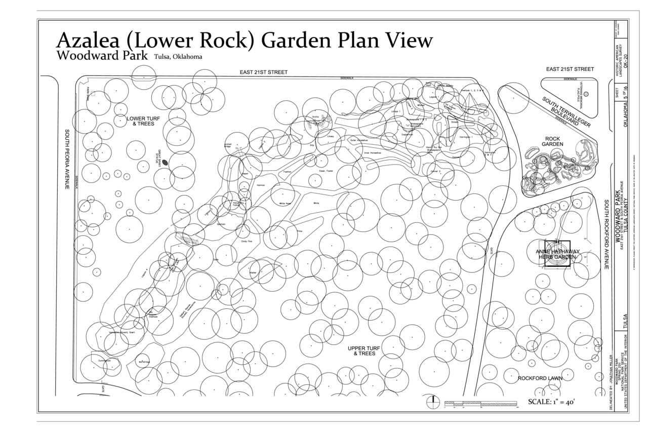 File:Azalea (Lower Rock) Garden Plan View - Woodward Park, 2101 South  Peoria Avenue, Tulsa, Tulsa County, OK HALS OK-20 (sheet 5 of 16).png