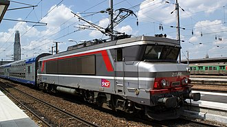 "SNCF - A ""broken nose"" style of SNCF electric locomotive (BB 15000) designed by Paul Arzens"