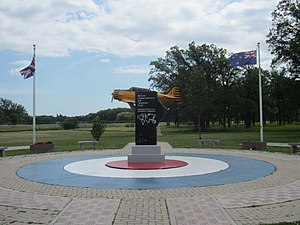 Air Force Heritage Museum and Air Park -  British Commonwealth Air Training memorial at the Air Park.