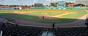 Bowling Green Ballpark - Bowling Green Ballpark from behind home plate prior to a game in 2015