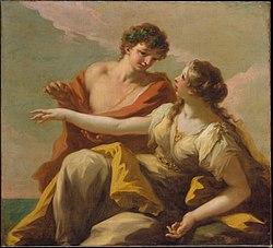 Giovanni Antonio Pellegrini: Bacchus and Ariadne