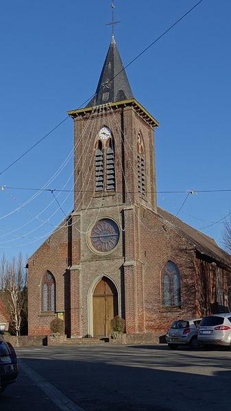 Bachy Eglise, Nord, Nord-Pas-de-Calais, France.