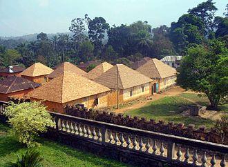 Bafut, Cameroon - View from the Fon's Palace, Bafut.