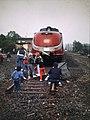 Bahnhof Gescher, Kreis Borken - Trans Europ Express (TEE) 1985 (2).jpg