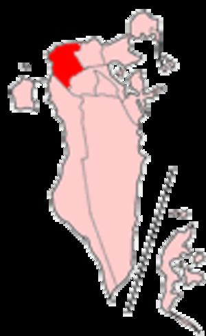 Northern Region, Bahrain - Map of Bahrain showing Al Mintaqah al Shamaliyah municipality