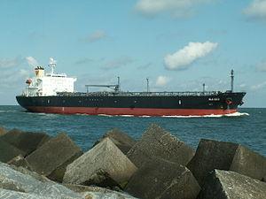 Baizo p3 approaching Port of Rotterdam, Holland 06-Aug-2005.jpg
