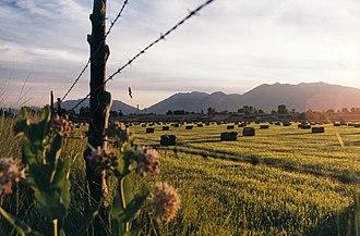 Utah County, Utah - A partial view of Utah Valley seen here from outside of Salem