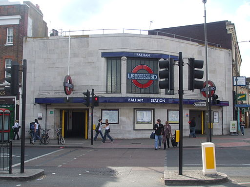 Balham station entrance north side