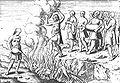Balinese rite of Suttee in Houtman 1597 Verhael vande Reyse ... Naer Oost Indien.jpg
