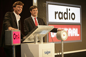 John de Mol Jr. - The launch of a commercial online radio platform by John de Mol (left) and Jan Peter Balkenende.