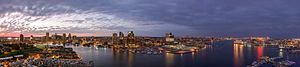 Baltimore-sunset-pano