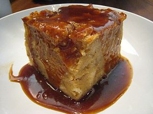 Banana foster bread pudding.