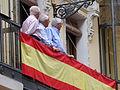 Bandera española, Coronación de la Virgen de la Estrella, Toledo, España, 2015.JPG