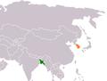 Bangladesh South Korea Locator.png
