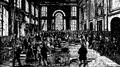 Bank, Interiör från Bank of England vid midten af 1800-talet, Nordisk familjebok.png
