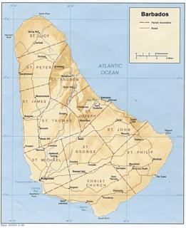 Barbados Wikipedia - Political map of barbados