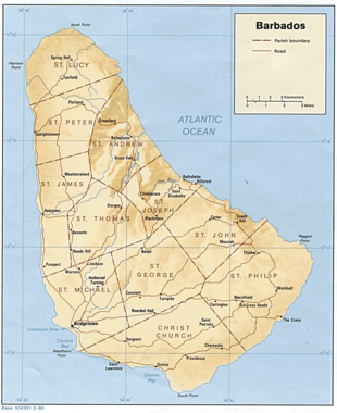 Barbados wikipedia a map of barbados publicscrutiny Choice Image
