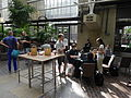 Barbican Conservatory at 4pm on day 2 of the Wikimania 2014 hackathon 03.jpg
