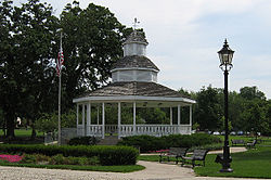 The Bartlett gazebo in Bartlett Park.
