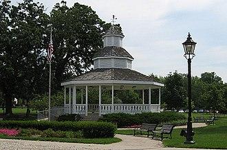 Bartlett, Illinois - The Bartlett gazebo in Bartlett Park.