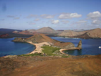 Bartoleme Island view, Galapagos.