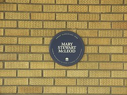 Photo of Mary Stewart McLeod blue plaque