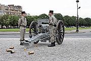 Batterie d'honneur de l'artillerie française - Investiture présidentielle du 15 mai 2012 - 031