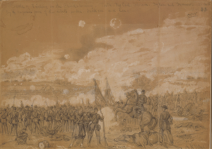 Battle of Gaines's Mill - Battle of Friday on the Chickahominy Alfred R. Waud, artist, June 27, 1862