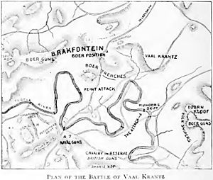 Battle of Vaal Krantz - Image: Battle of Vaal Krantz Map