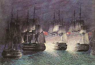 Battle of Zealand Point - Artist's rendition of the Battle at Zealand Point