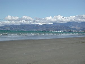 Rabbit Island, New Zealand - Beach on Rabbit Island near Nelson