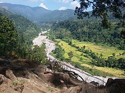 Beautiful hill and river view,Jhapa