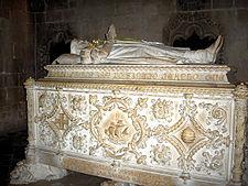 Tomb in the Jerónimos Monastery in Belem