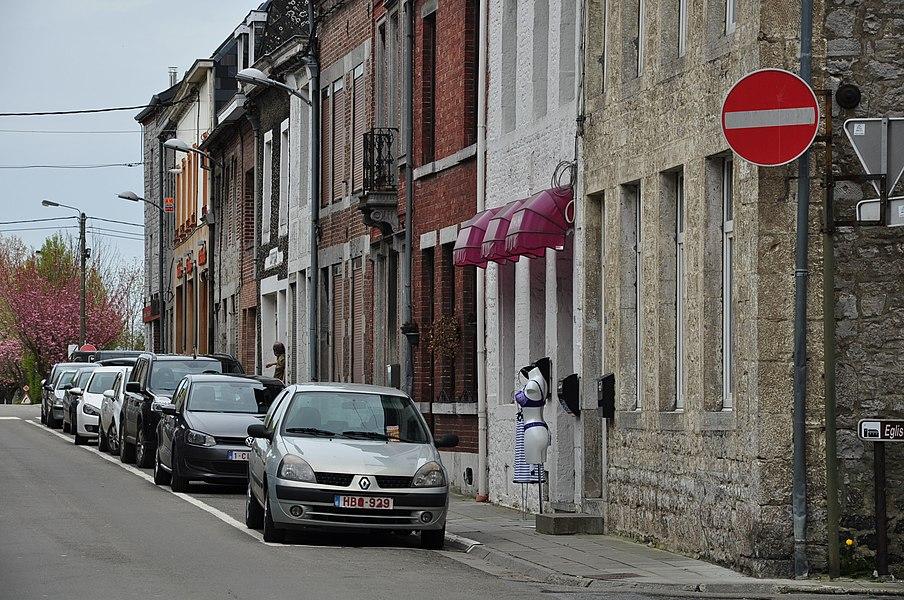 The Rue de Namur (Namur Street) in Philippeville, Belgium.