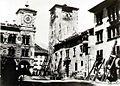 Belluno - piazza Duomo dopo il terremoto del 1873.jpg