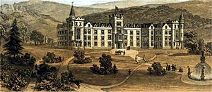 Ben Rhydding - Image: Ben Rhydding hydropathic establishment circa 1858