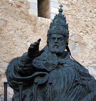 Antipope Benedict XIII - Statue of Benedict XIII in Peñiscola, Spain.