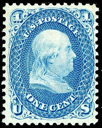 US Postage stamp: Benjamin Franklin, 1861 Issu...
