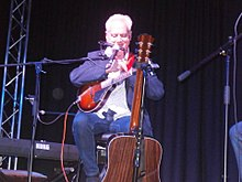 Benny Gallagher On Stage at the Albany Theatre, Greenock.jpg