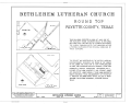 Bethlehem Lutheran Church, White Street, Round Top, Fayette County, TX HABS TEX,75-ROUNT,2- (sheet 1 of 6).png