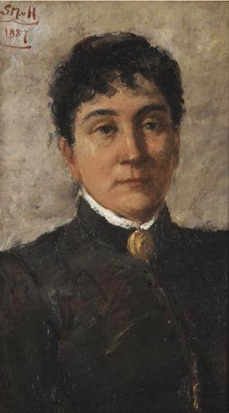 Betzy Akersloot-Berg - Betzy Akersloot-Berg,  by Sientje van Houten (1887)