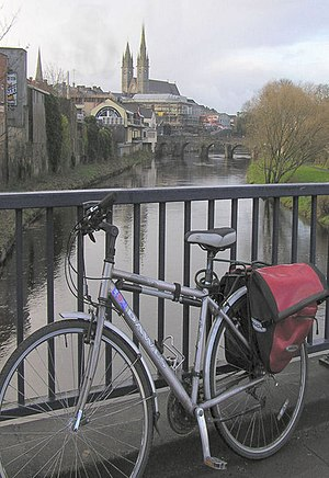 English: Biking through Omagh Did David Camero...