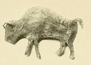 Bison hunting - Skin effigy of a Buffalo used in the Lakota Sun Dance