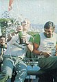 Björn Waldegård and Hans Thorszelius (Lancia Alitalia) - 1975 Rallye Sanremo's victory.jpg