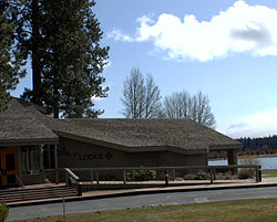 Black Butte Ranch Lodge with South Sister in background